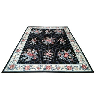 Contemporary Handmade Knotted Rug - 8′ × 11′