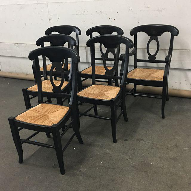 Pottery Barn Napoleon Dining Chairs - Set of 6 - Image 3 of 9