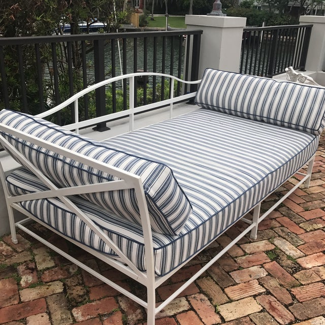 Cast Iron Sunbrella Upholstered Outdoor Daybed - Image 7 of 7