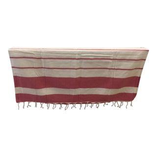 Turkish Red Striped Bath & Beach Towel
