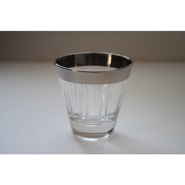 Image of Silver Rimmed Shot Glasses - Set of 8