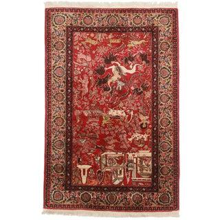 RugsinDallas Fine Hand Knotted Wool Persian Tabriz Rug - 4′2″ × 6′5″