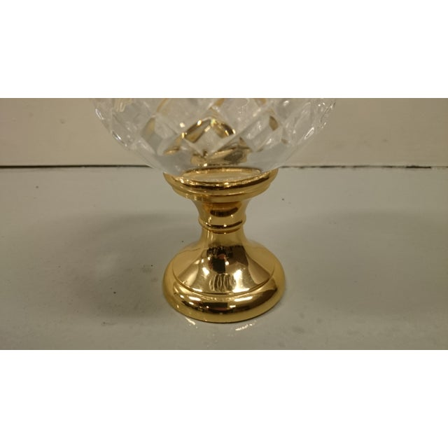 Crystal Newel on Brass Base - Image 4 of 4