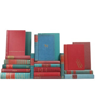 Mid Century Vibrant Mixed Books - Set of 20