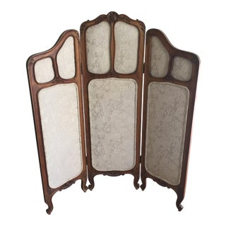Antique Art Nouveau Boudoir Screen