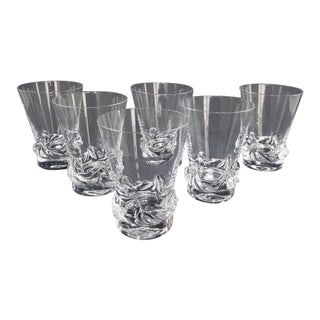 French Daum Crystal Wine Glasses - Set of 6