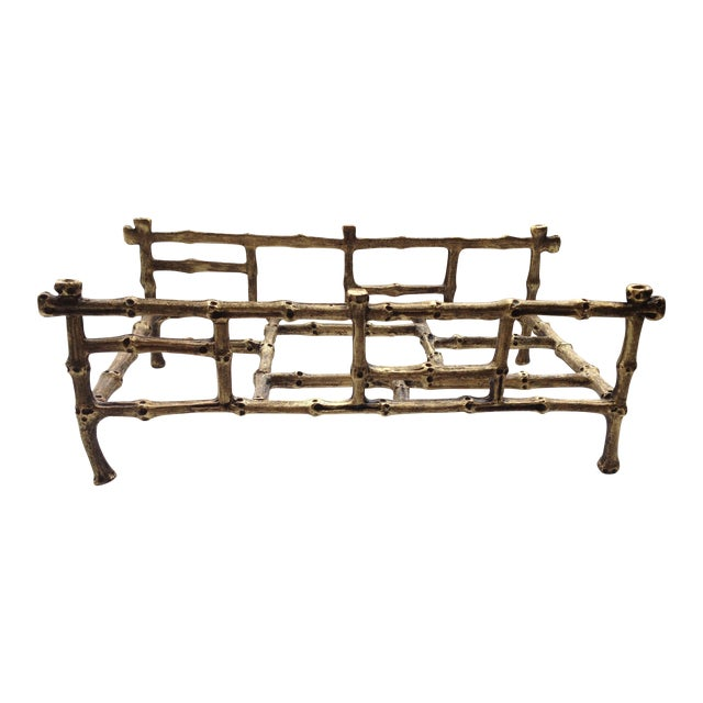 Gilded Bamboo Towel or Napkin Holder - Image 1 of 4