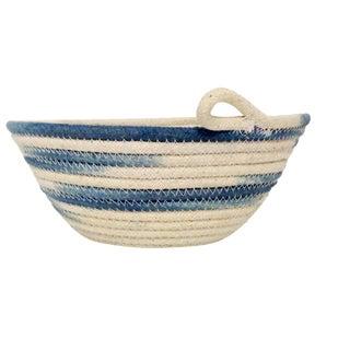 Ikat Indigo Handmade Rope Bowl