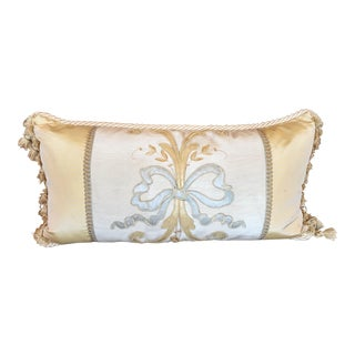 Antique Embroidered Textile Pillow by Villa Melrose