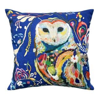 Anthropologie Starla Michelle Halfmann Owl Pillow
