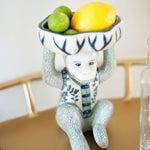 Image of Blue & White Chinoiserie Monkey Card Holder