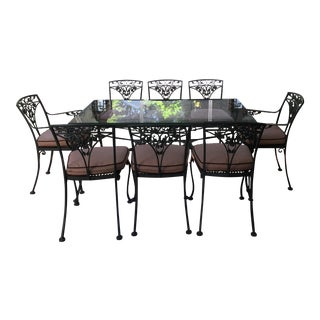 Woodard Patio Table & Chairs - St of 9