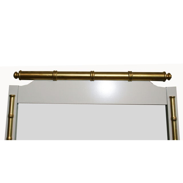 Regency-Style Faux-Bamboo Mirror - Image 3 of 4