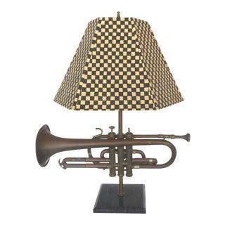 Custom Musical Trumpet Lamp & Shade