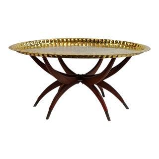 Boho Oval Brass Tray Coffee Table