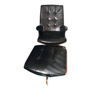 Heywood-Wakefield Lounge Chair and Ottoman