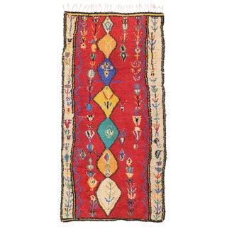 Vintage Moroccan Berber Rug - 4′5″ × 8′8″