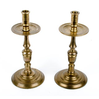 Maitland-Smith Brass Candlesticks - A Pair