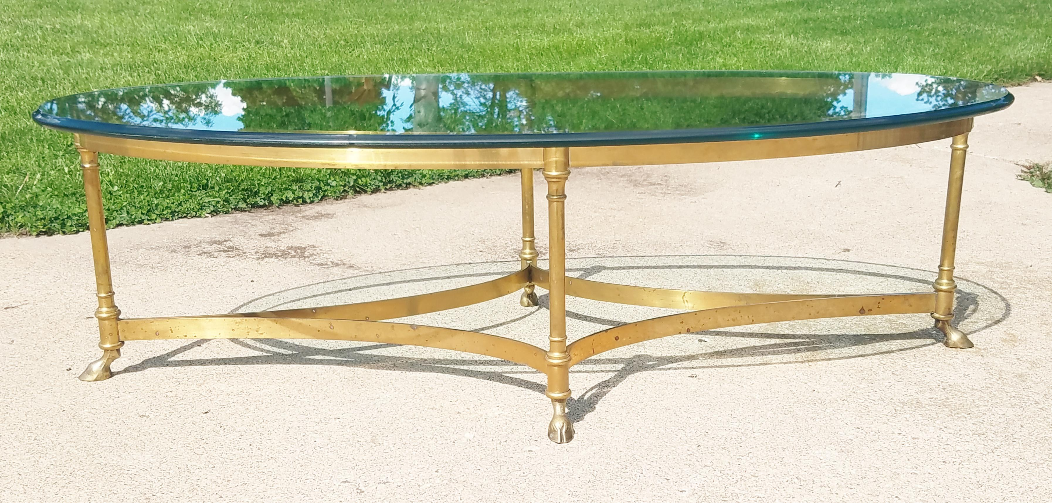labarge hollywood regency brass coffee table | chairish