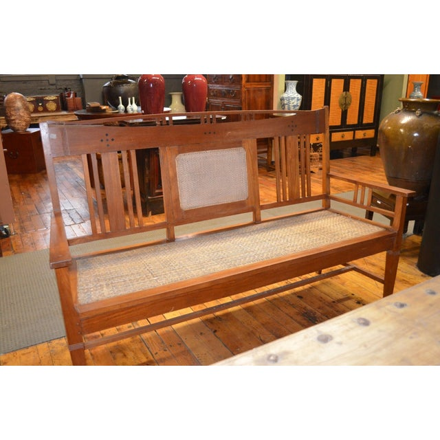 Arts and Crafts Style Bench - Image 2 of 4