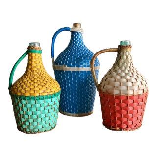 Vintage Eastern European Miner's Bottles - Set of 3