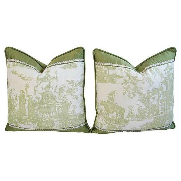 Designer Chris Stone Chinoiserie Pillows - Pair - Image 7 of 8
