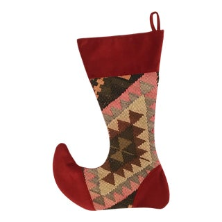Large Kilim Christmas Stocking | Snowflake