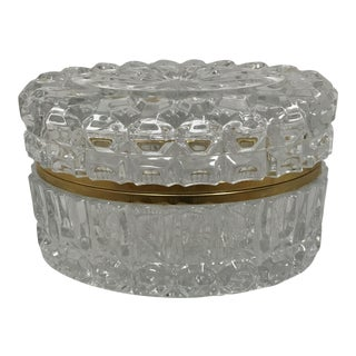 French Cut Crystal Oval Box