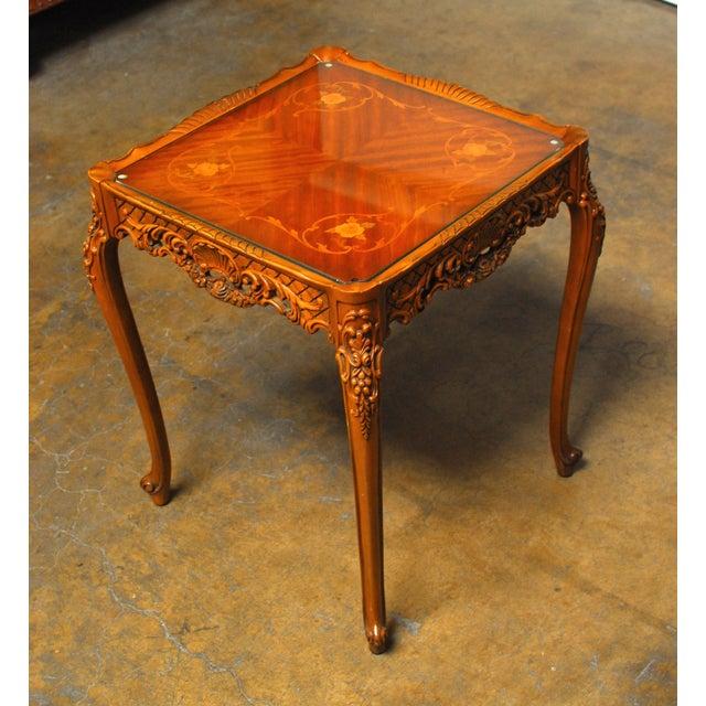French Provincial Inlaid Table - Image 4 of 4