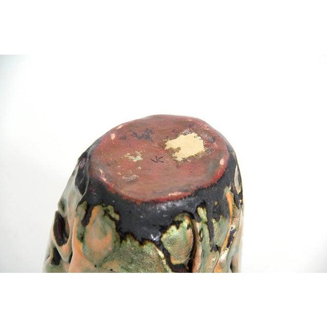 Studio Enamel Copper Vessel - Image 4 of 5