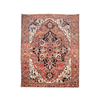 Square-Shaped Serapi Carpet
