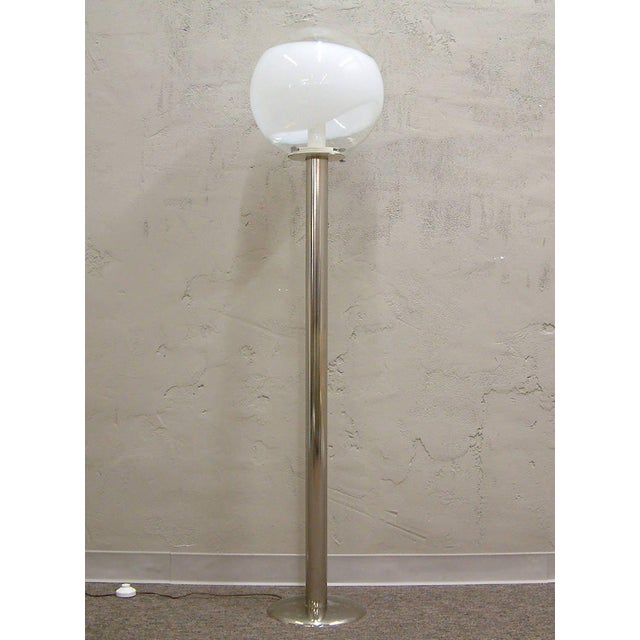 1960s Mazzega Style Tubular Chrome and Murano Glass Floor Lamp - Image 3 of 9