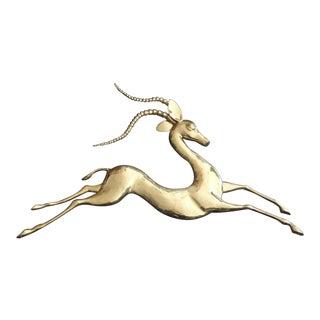 Brass Antelope Wall Sculpture by Bijan