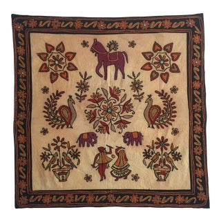 Vintage Hand Embroidered Indian Textile