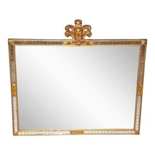 Brass & Mahogany Mirror