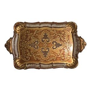 Italian Florentine Gilded Wood Tray