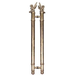 Bronze Egyptian Door Handles - A Pair