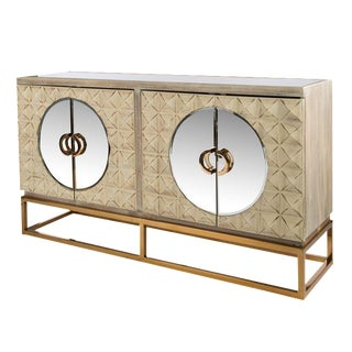 Toretto Spike Sideboard With Gold Legs