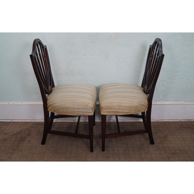 Mahogany Federal Style Inlaid Dining Chairs - 6 - Image 3 of 10