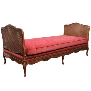 Louis XV Cane & Walnut Daybed