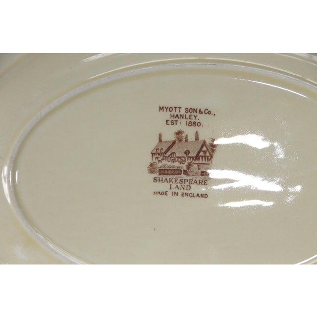 Myott Brown Transferware 'Shakespeare' Serving Platter - Image 5 of 5