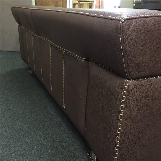 Roche Bobois Urban Leather Loveseat - Image 5 of 10