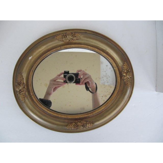 Vintage Fruit & Flower Accent Gold Mirror - Image 7 of 10