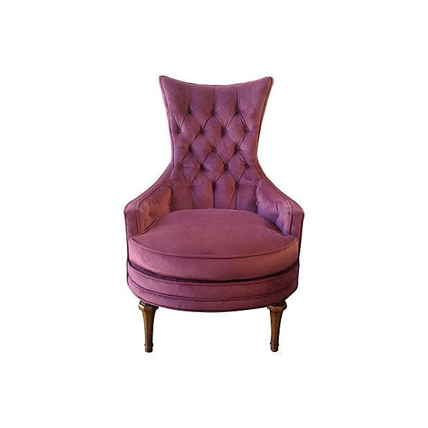 1950s tufted accent chair chairish Tufted accent chair