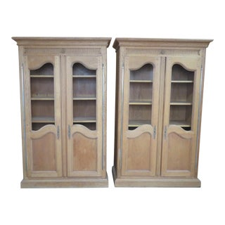 Bloomingdale's Oak Country French Bookcases - A Pair