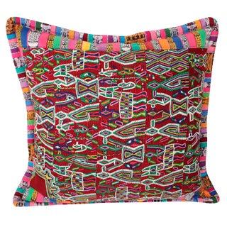 Guatemalan Huipil Textile Pillow