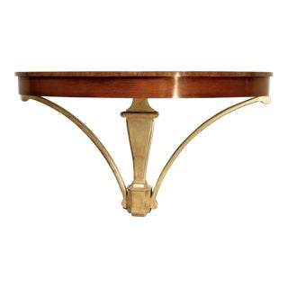 Wall Mounted Mahogany Console Table