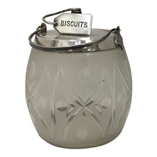 Victorian Cut Crystal Biscuit Jar