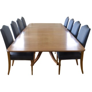 9-Piece Holly Hunt-Style Dining Set