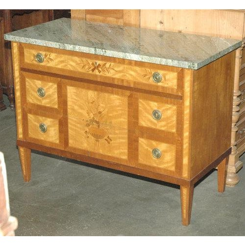 Marquetry Inlaid Commode / Chest of Drawers - Image 3 of 5